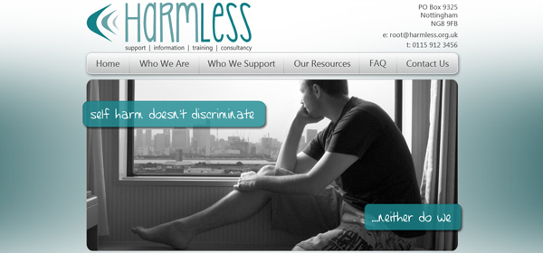 Harmless Website Design